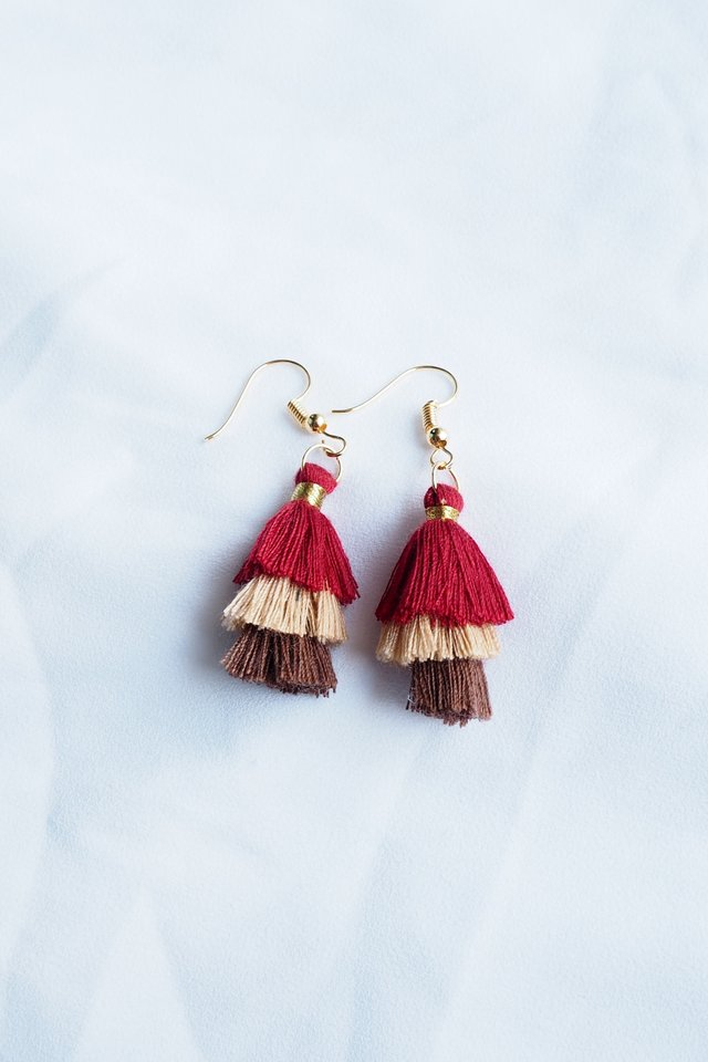 Mini Tassel Earrings (Autumn)