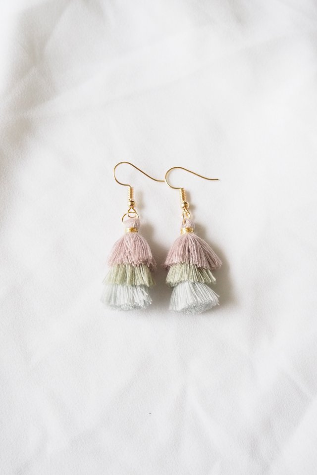 Mini Tassel Earrings (Vintage)