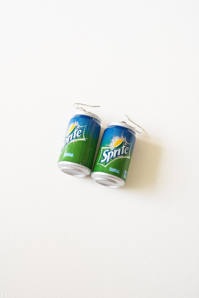Canned Drink Earrings (Sprite)