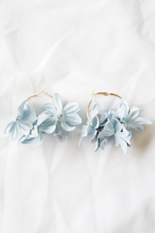 Breu Floral Hoops (Blue)