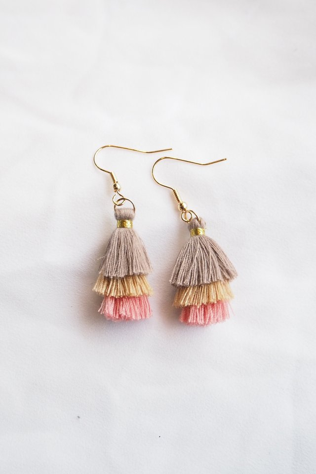 Mini Tassel Earrings (Fall)