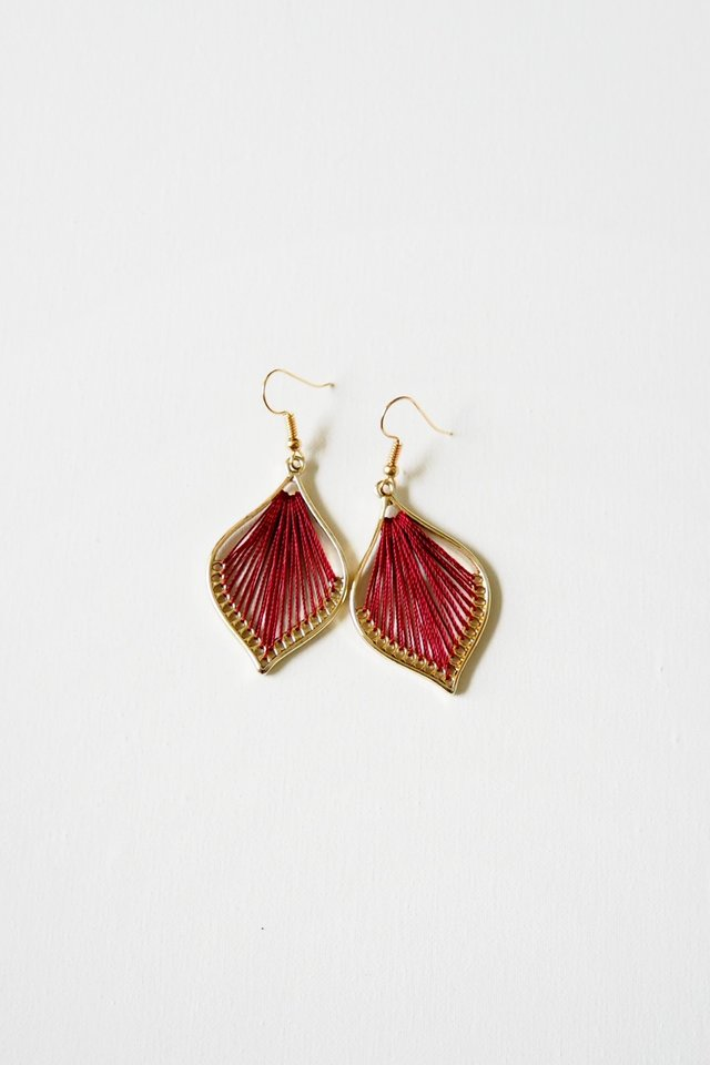 Cory Earrings (Maroon)