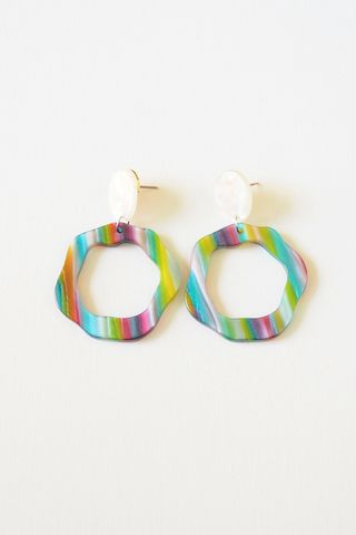 Rainbow Stripes Earstuds