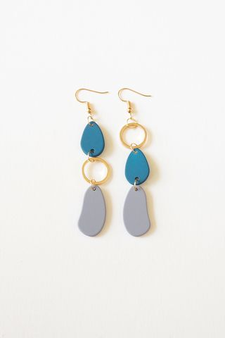 Colouret Asymmetrical Earrings (Grey)