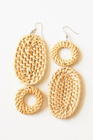 Mismatched Rattan Earrings