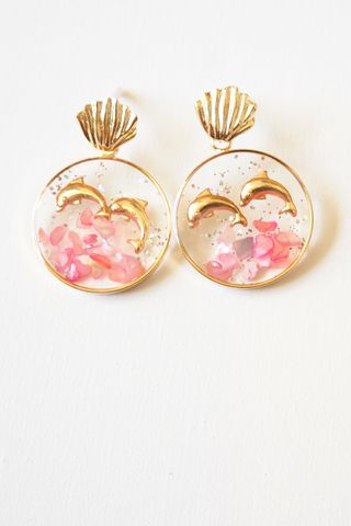 Dolphin Earstuds (Pink)