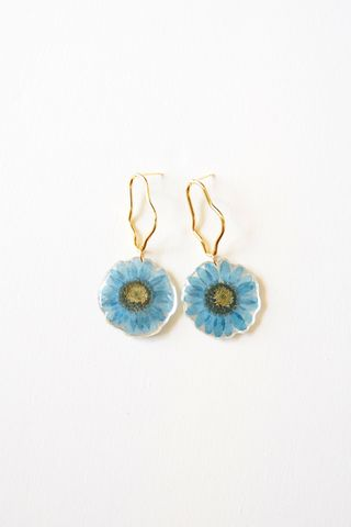 Sunflower Earstuds (Blue)