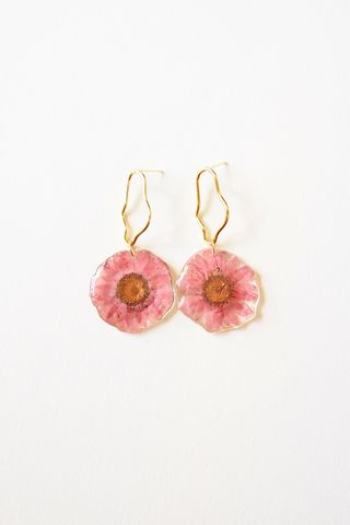 Sunflower Earstuds (Pink)