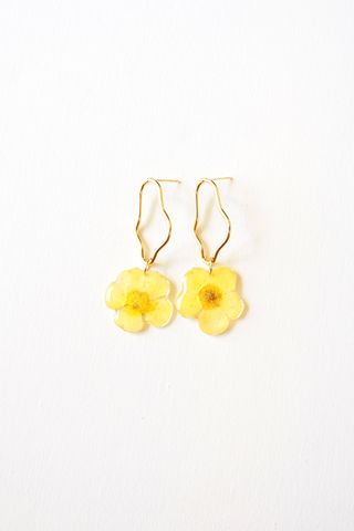 Sunnie Flower Earrings (Yellow)