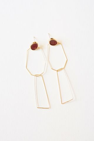Geometric Dangle Earstuds