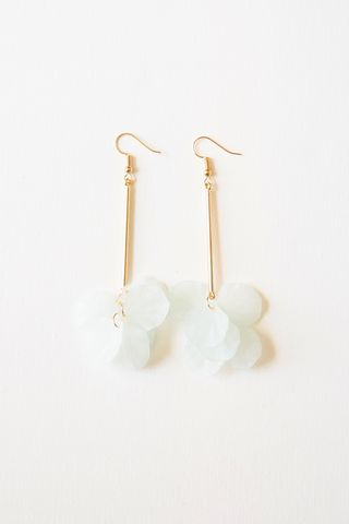 Petal Drop Earrings (Mint)