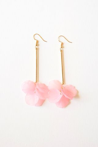 Petal Drop Earrings (Pink)