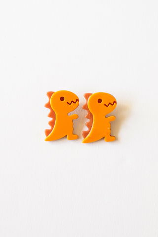 Dino Earstuds (Orange)