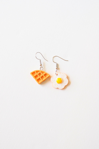 Waffle & Egg Earrings