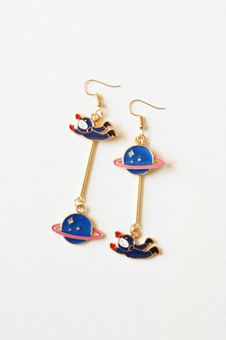 Mismatched Astronaut Earrings