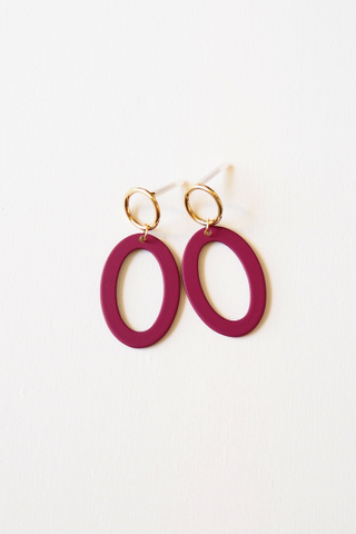 Oval Earstuds (Purple)