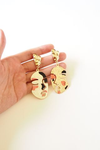 Abstract Face Earstuds