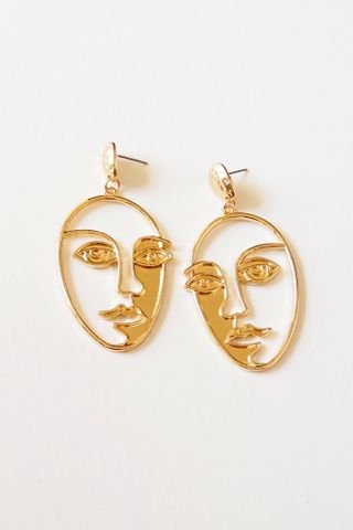 Rill Face Earstuds (Gold)