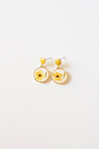 Joey Flower Earstuds (Yellow)
