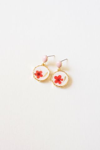 Joey Flower Earstuds (Red)