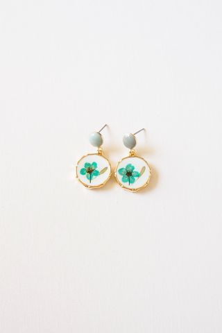 Joey Flower Earstuds (Teal)