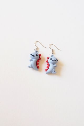 Dino Earrings (Blue)