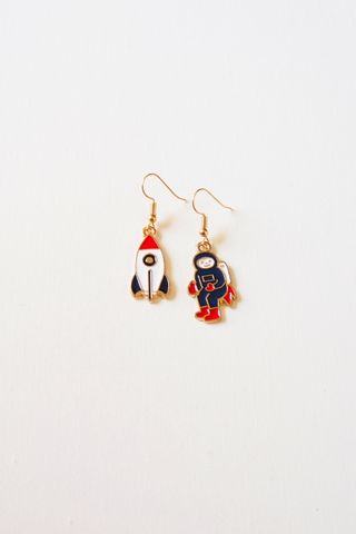 Mismatched Astronaut Earrings (Colour)