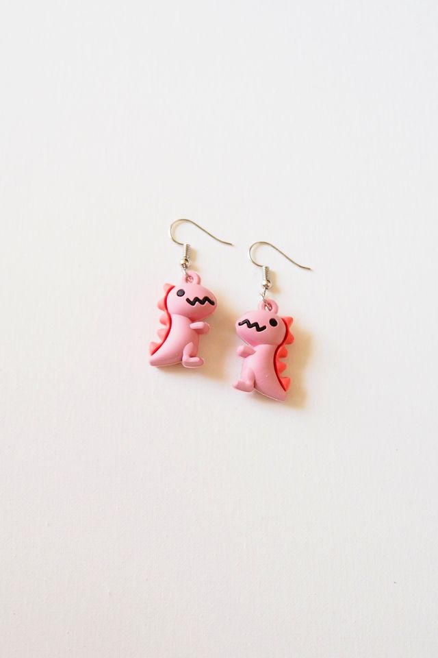 Dino Earrings (Pink)