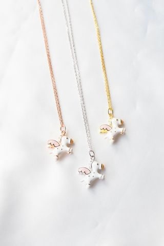 3D Pegasus Necklace (Gold)