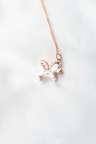 3D Pegasus Necklace (Rose Gold)