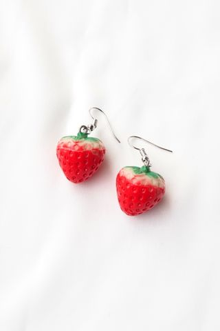 3D Strawberry Earrings