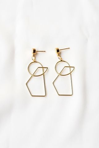 Basic Geometric Earstuds (Gold)