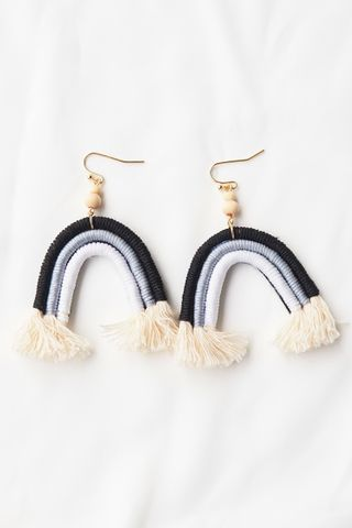 Macrame Rainbow Earrings (Mono)