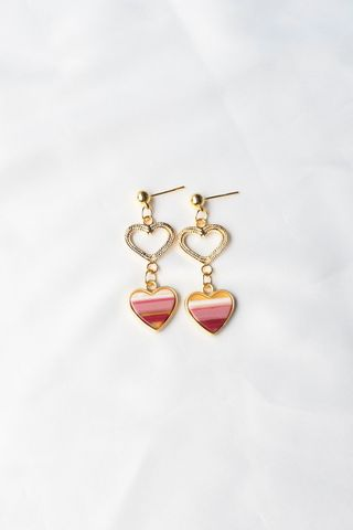 Small Heart Earstuds (Pink)