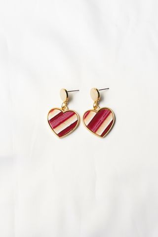 Big Heart Earstuds (Pink)