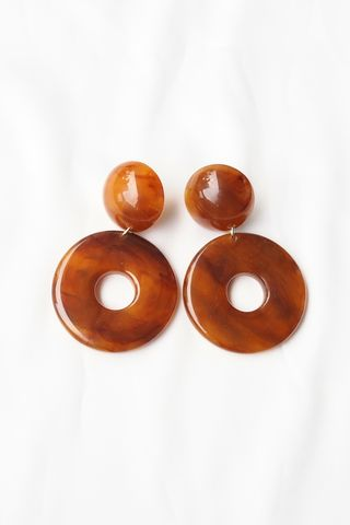 Chunky Circle Earstuds (Brown)