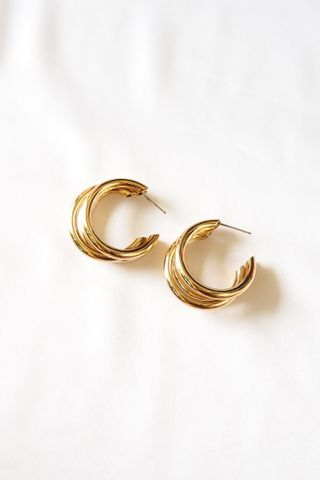 Tri Hoops (Gold)