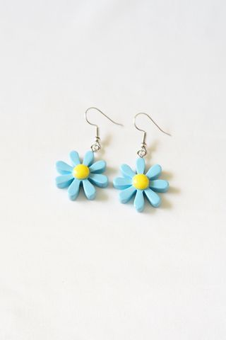 Mini Daisy Earrings (Blue)