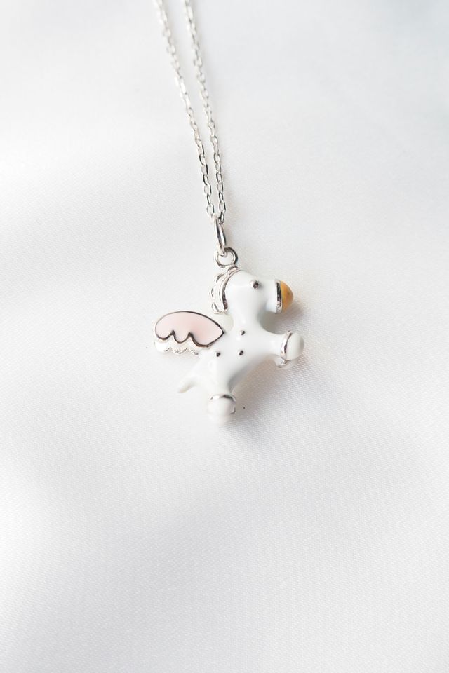 3D Pegasus Necklace (Silver)