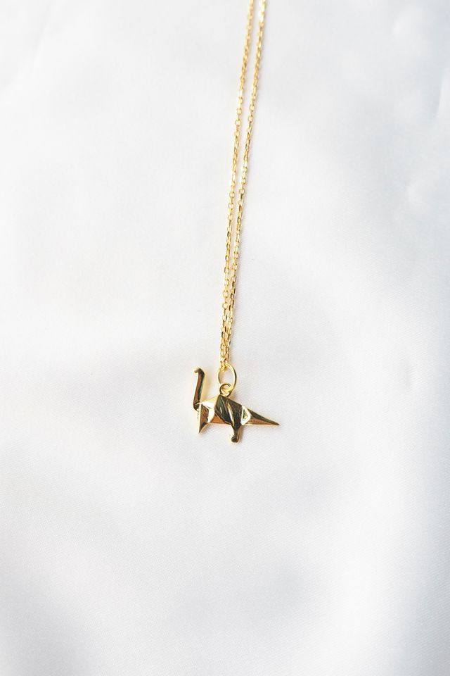 Dino Necklace (Gold)