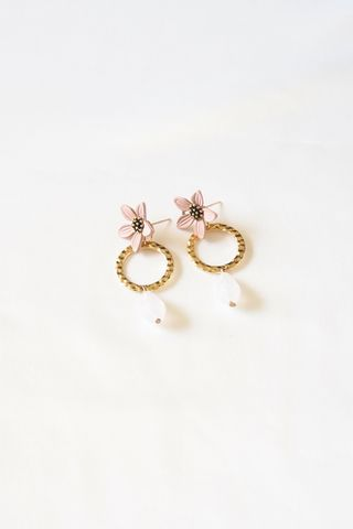Jae Flower Earstuds (Blush)