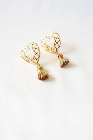 Heart Mini Tassel Earstuds