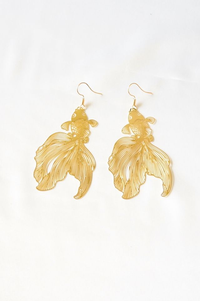 Goldfish Cutout Earrings