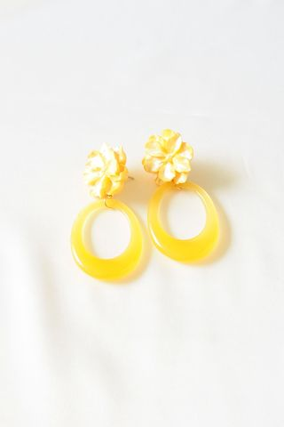 Flower Pop Earstuds (Yellow)
