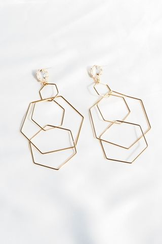 Hexagon Layered Earstuds