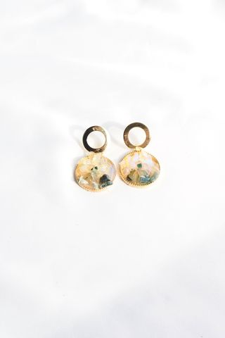 Mineral Earstuds (Emerald)