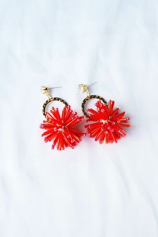 Fire Cracker Earstuds (Red)