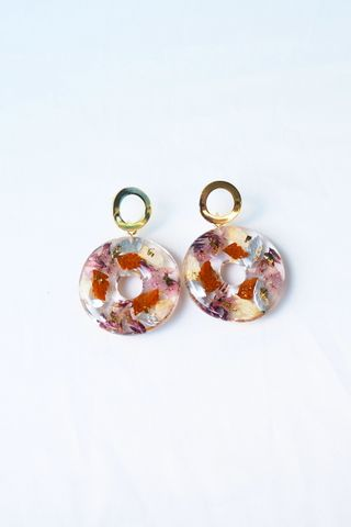 Nellie Flower Earstuds (Plum)