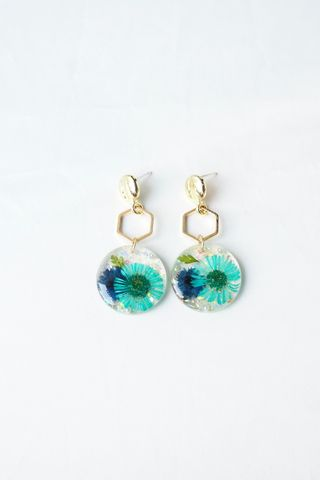 Tani Flower Earstuds (Blue)