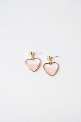 Gradient Shell Heart Earstuds
